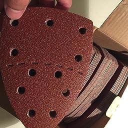 PSM 18 y todas las herramientas multifunci/ón swing PSM 200 AES Papel de lija de rat/ón 60PCS 40-240 papel de lija grueso adecuado para Bosch Multi-Sander PSM 100A