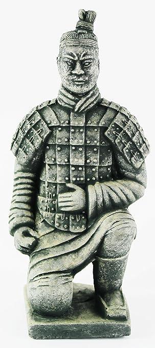 Beau Chinese Warrior Concrete Asian Garden Statue Cement Figurine Sculpture