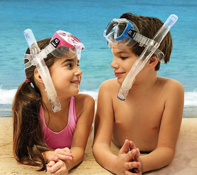 Cressi Ondina /& Top Premium Combo Set pour Enfant Transparent//Bleu