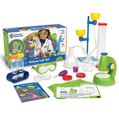Learning Resources Primary Science Deluxe Lab Set, Science Kit, 45 Piece Set, Ages 3+: Toys & Games