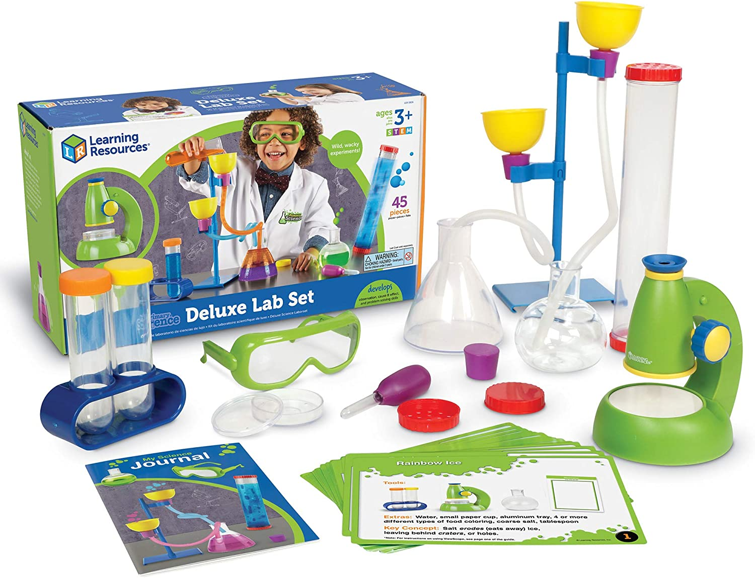 Learning Resources Primary Science Deluxe Lab Set, Science Kit, 45 Piece Set, Ages 3+