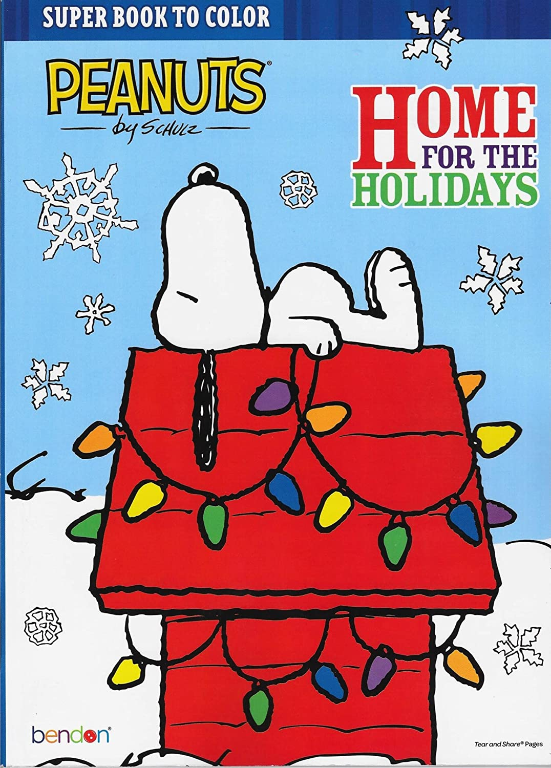 amazoncom peanuts home for the holidays christmas coloring book toys games - Peanuts Coloring Book