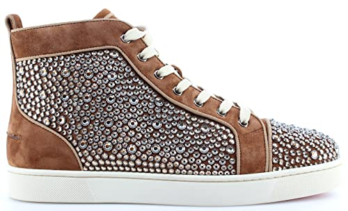 finest selection 4634b d698f Christian Louboutin Paris Men's Shoes Sneakers Louis Orlato Flat Indiana  Strass