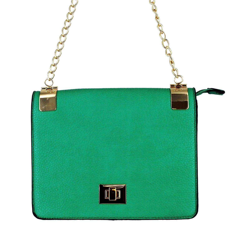 8435b2571 Alyssa Women's Classic Faux Leather Designer Crossbody Shoulder Bag Handbag  Purse $39.99 (Green): Handbags: Amazon.com