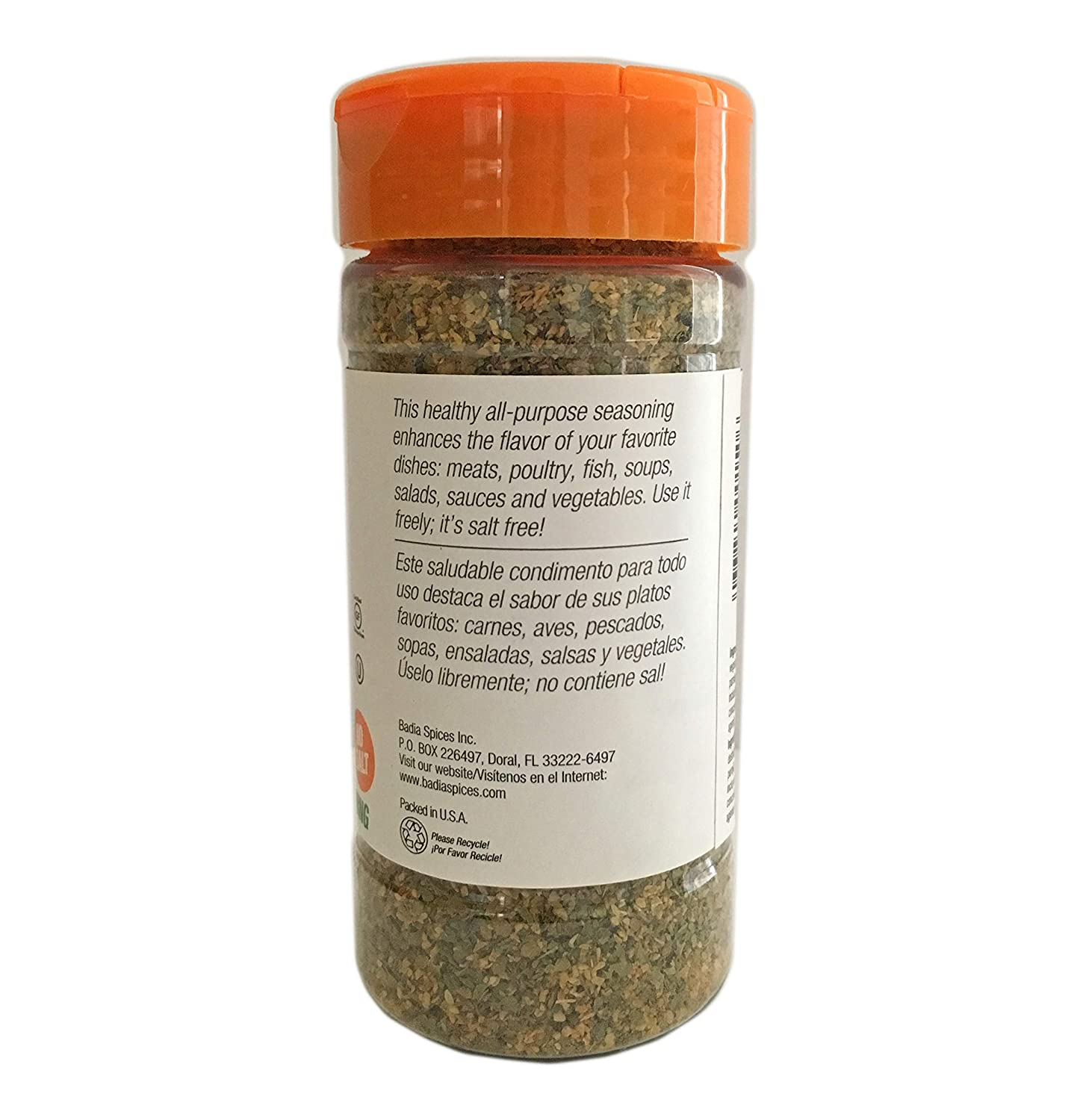 Amazon.com : 4.25 oz 14 Spices Seasoning All Purpose No Salt Sodium Free/Sazon Sin sal Kosher : Grocery & Gourmet Food