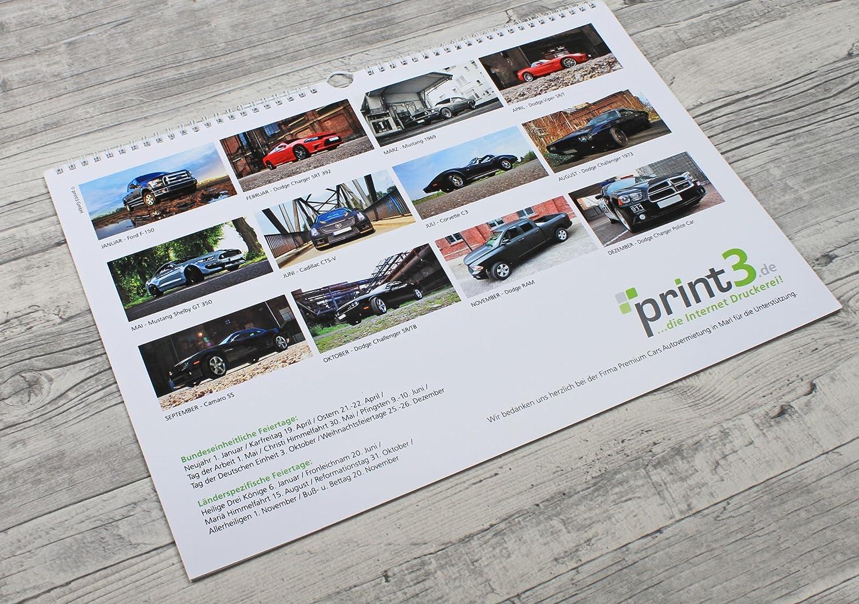 US de Car/Muscle/Classic Car - Calendario de pared DIN A3 horizontal: Amazon.es: Oficina y papelería