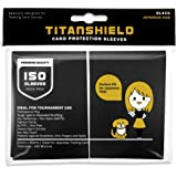 TitanShield (150 Sleeves/Black) Small Japanese Sized Trading Card Sleeves Deck Protector for Yu-Gi-Oh, Cardfight…