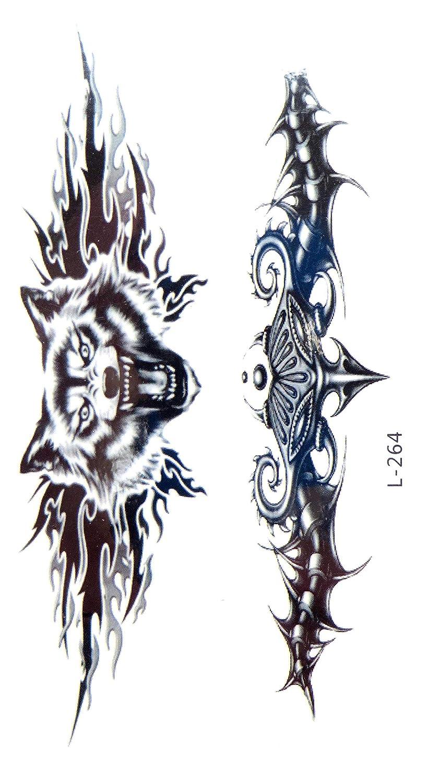 d3a233813 Amazon.com: tramp stamp tiger tribal temporary tattoo boho tattoo Body  Makeup: Clothing