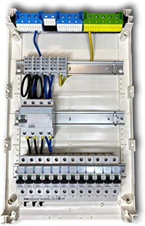 hager distribution sub-distribution fuse box surface-mounted flush-mounted  hollow wall 2 and 3 rows fully pre-wired: amazon.de: baumarkt  amazon.de