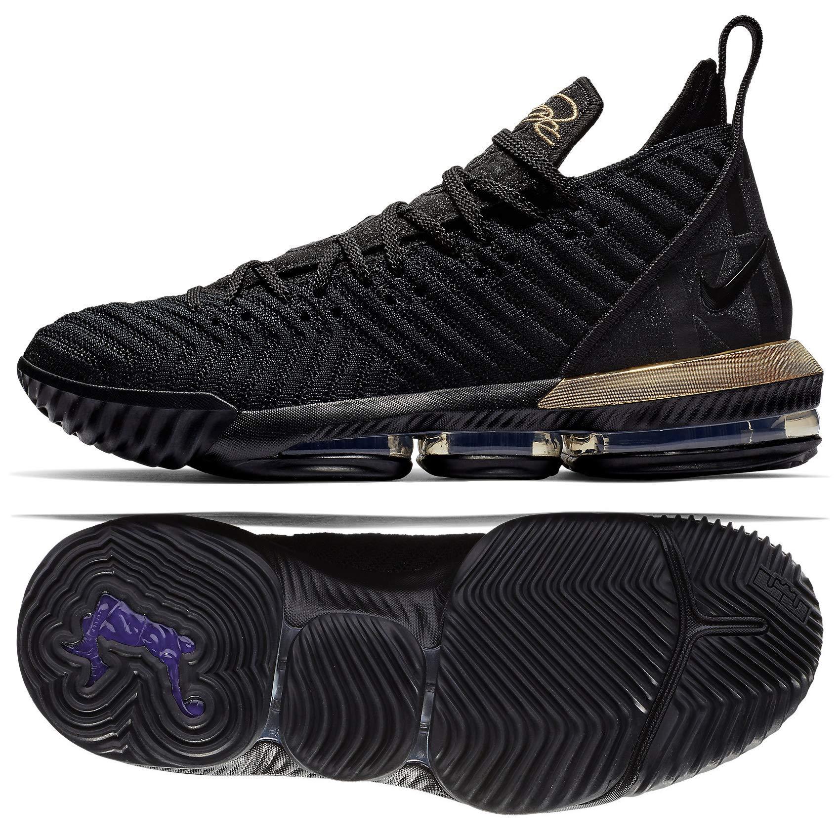 separation shoes 0e911 2f1ff Nike Mens Lebron 16 Basketball Shoes (Black/Metallic Gold, 11 D(M) US)
