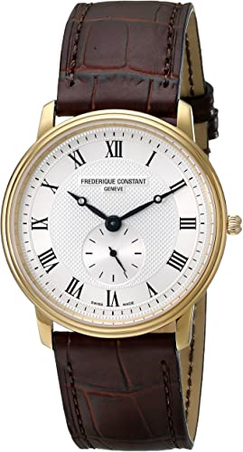 Amazon.com: Frederique Constant Men's 235M4S5 Slim Line Analog Swiss Quartz  Brown Watch: Frederique Constant: Watches