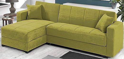 dafnedesign. COM - Sofá angular - Color: Verde - Versión ...