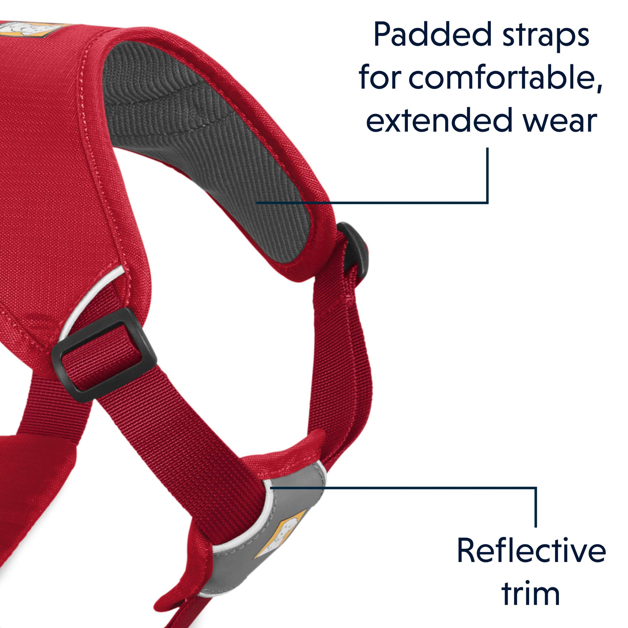 RUFFWEAR - Web Master, Multi-Use Support Dog Harness, Hiking and Trail Running, Service and Working, Everyday Wear, Red Currant, X-Small by RUFFWEAR (Image #6)