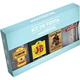 Diageo Kit de Fiesta con J&B Rare, Gordon Dry Gin, Smirnoff Red y Captain Morgan - Total: 800 ml