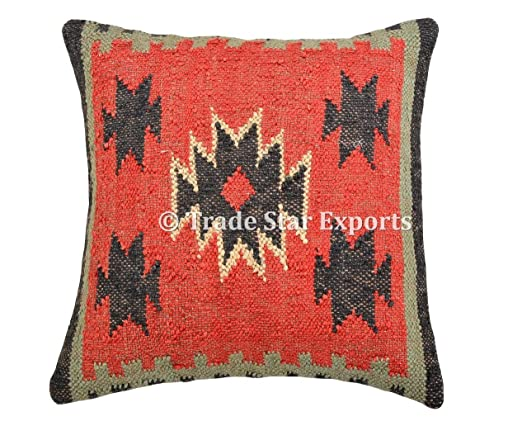 Trade Star Funda de cojín India Tejida a Mano Kilim, 45,7 x ...