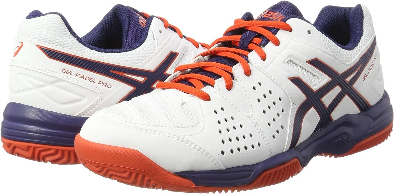 Asics Gel-Padel Pro 3 SG, Zapatillas de Tenis Hombre, Blanco (White / Astral Aura / Cherry Tomato), 49 EU: Amazon.es: Zapatos y complementos