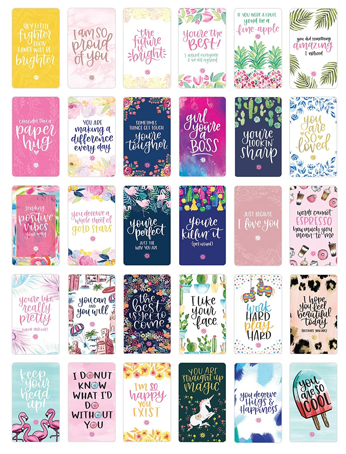 bloom daily planners Encouragement Card Deck - Cute Inspirational Quote  Cards - Just Because Cards - Set of Thirty 2\