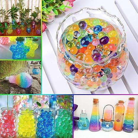 Turca 5500 piezas Magic Jelly pecera perlas de agua coloridas jarrón relleno para casa crunchy Slime