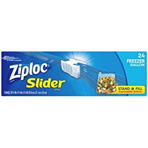 Ziploc Slider Freezer Bags, Gallon, 24 ct