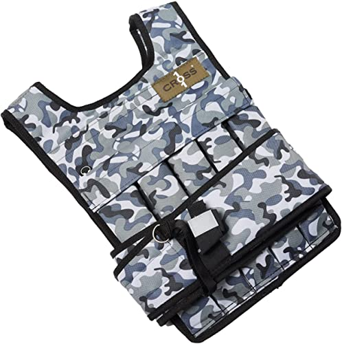 CROSS101 Arctic Camouflage Adjustable Weighted Vest 60lbs