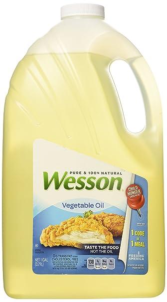 amazon com wesson 100 pure vegetable oil 128 fl oz pizza