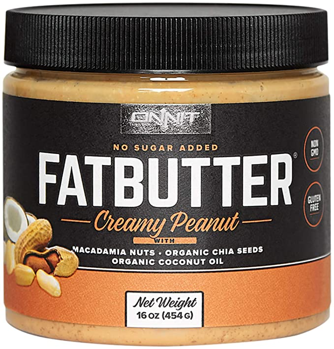 Onnit Fat Butter - KETO SNACKS FAVORITE - Low Carb Nut Butter Packed with Macadamia Nuts, Organic Chia Seeds, Organic Coconut Oil