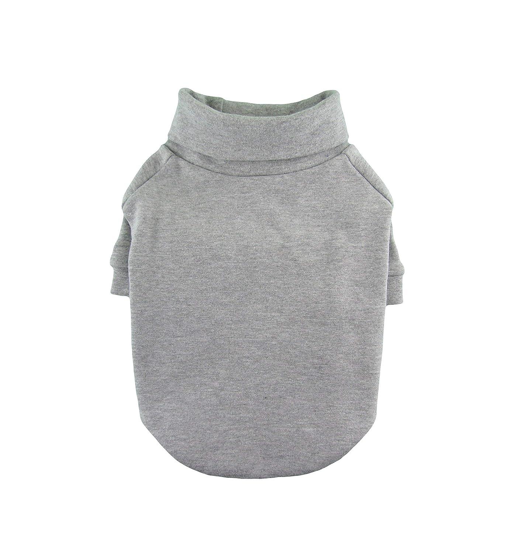 B07B4TQWP6 Gray THICK 1 x 1 Rib Knit Turtleneck T-shirt, Dog Tee, Dog Clothing, Dog Fashion, Dog Apparel, Made in USA, XS-3XL 81LG7IsC3hL