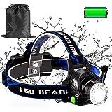 ヘッドライト LEDアウトドアヘッドライト USB充電式 IPX4防水 3種モード SOSフラッシュ機能 ズーム機能付き 角度調節可能 パトロール/日常携帯/キャンプ/徒歩/登山/釣り/作業灯/防災 【最新版】