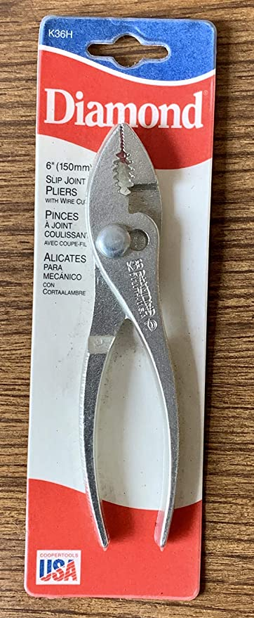 "Diamond 6"" Vintage Wire Cutting Slip Joint Pliers NOS ..."