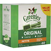 Greenies Dog Dental Chews Dog Treats for Petite Size (15-25 lb Dogs)
