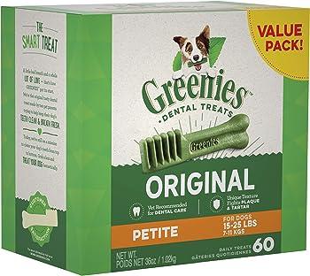 Greenies Dog Dental Chews Dog Treats for Petite Sizes