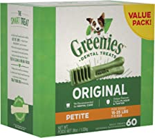 Greenies Dog Dental Chews Dog Treats - Petite Size (15-25 lb Dogs)