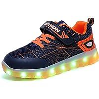 Axcer LED Zapatos Verano Ligero Transpirable Bajo 7 Colores USB Carga Luminosas Flash Deporte de Zapatillas con Luces…