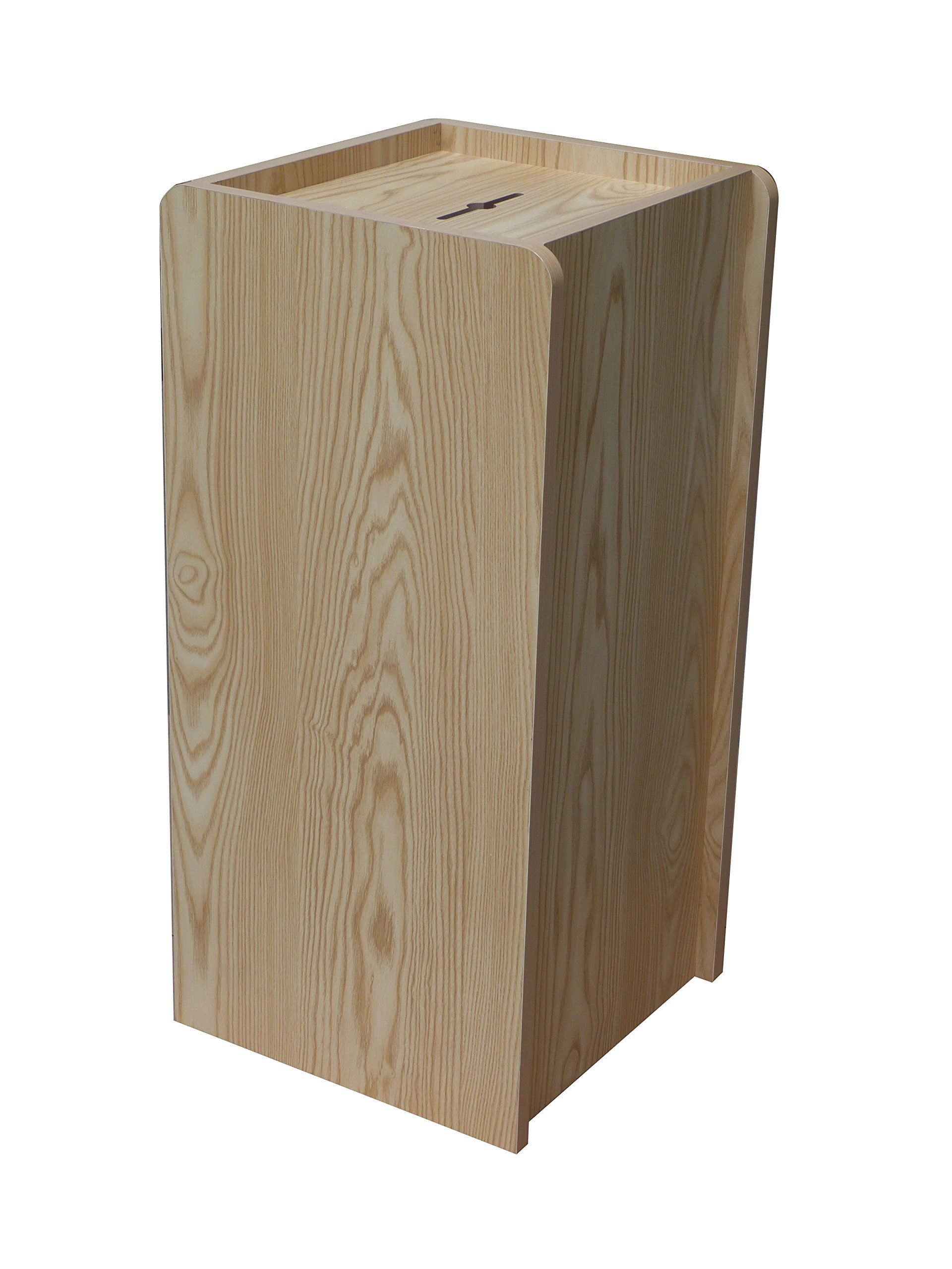 Fixture Displays Wood (MDF Veneer) Donation Box Tithing Box Fundraising Stand 13155 13155