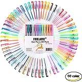 FUNLAVIE Gel Penne Multicolore Colori Assortiti Bambini e Adulti con Inchiostro - 60 penne