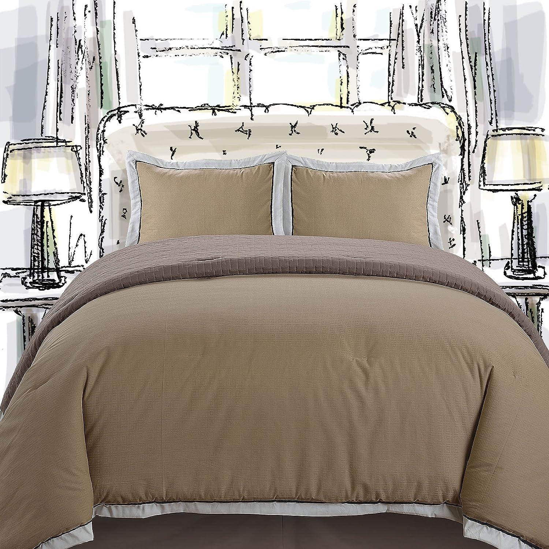 4 Piece Full/queen Quilt & Comforter Set (Mocha / Tan / Sand)