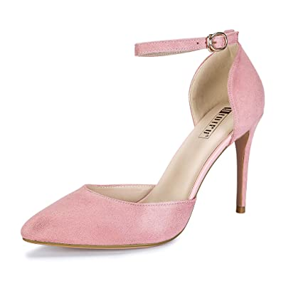 7992d89d3aa IDIFU Women s IN4 D Orsay Alice Stiletto High Heel Ankle Strap Bridal Pump  (Pink