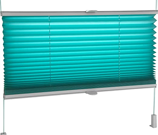 Tropik home White Pleated Blinds 18 Width Sizes Easy Fit Install Plisse Conservatory Blinds 200cm Drop 35cm Wide