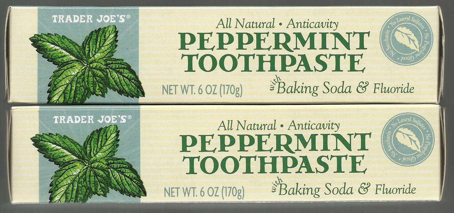 Amazon.com : Trader Joe\'s All Natural Anticavity Peppermint ...