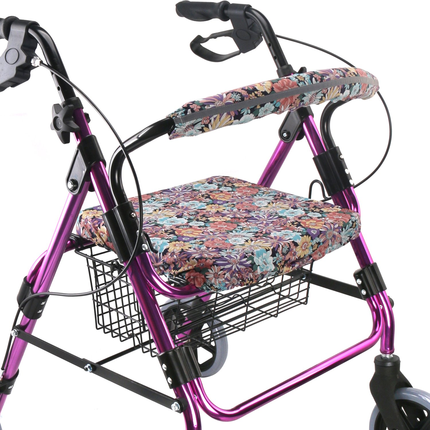 Walker Seat Cover Rollator Walker Seat and Backrest Covers Vibrant Walker Cover One Size Multiple Colors (CB1884)