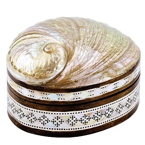 Amazon.com: nilecart egipcio madre de perla joyero de madera ...