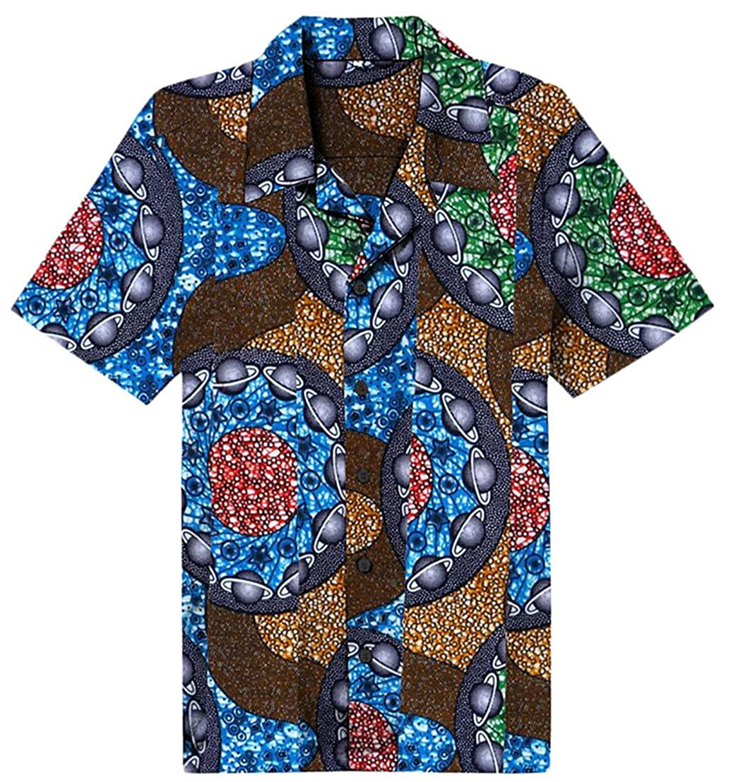 Be Loved Beloved Men Print Beach Holiday Button Down Short Sleeve Summer Hawaiian Shirt