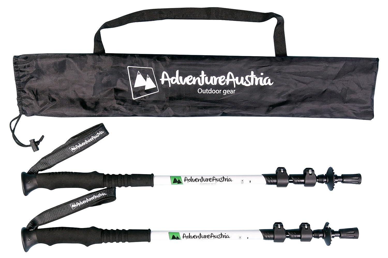 Pair of Adjustable Trekking Poles Aluminium Lightweight Walking Sticks for Hiking /& Mountaineering Foam Handles Neoprene Wrist Straps /& Quick Lock System.