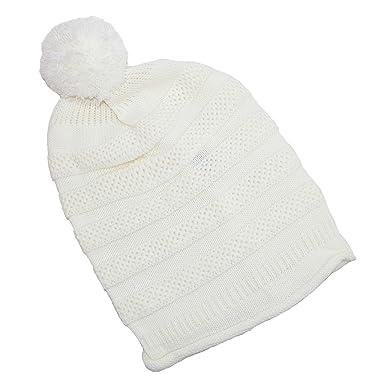 90a369817bf Dynamic Asia Women s Textured Knit Beanie Hat with Pom Pom