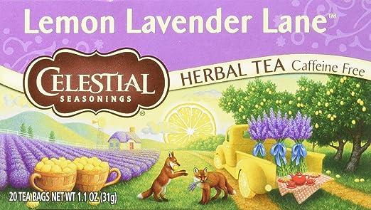 Celestial Seasonings té de lavanda, caja individual 20 ...