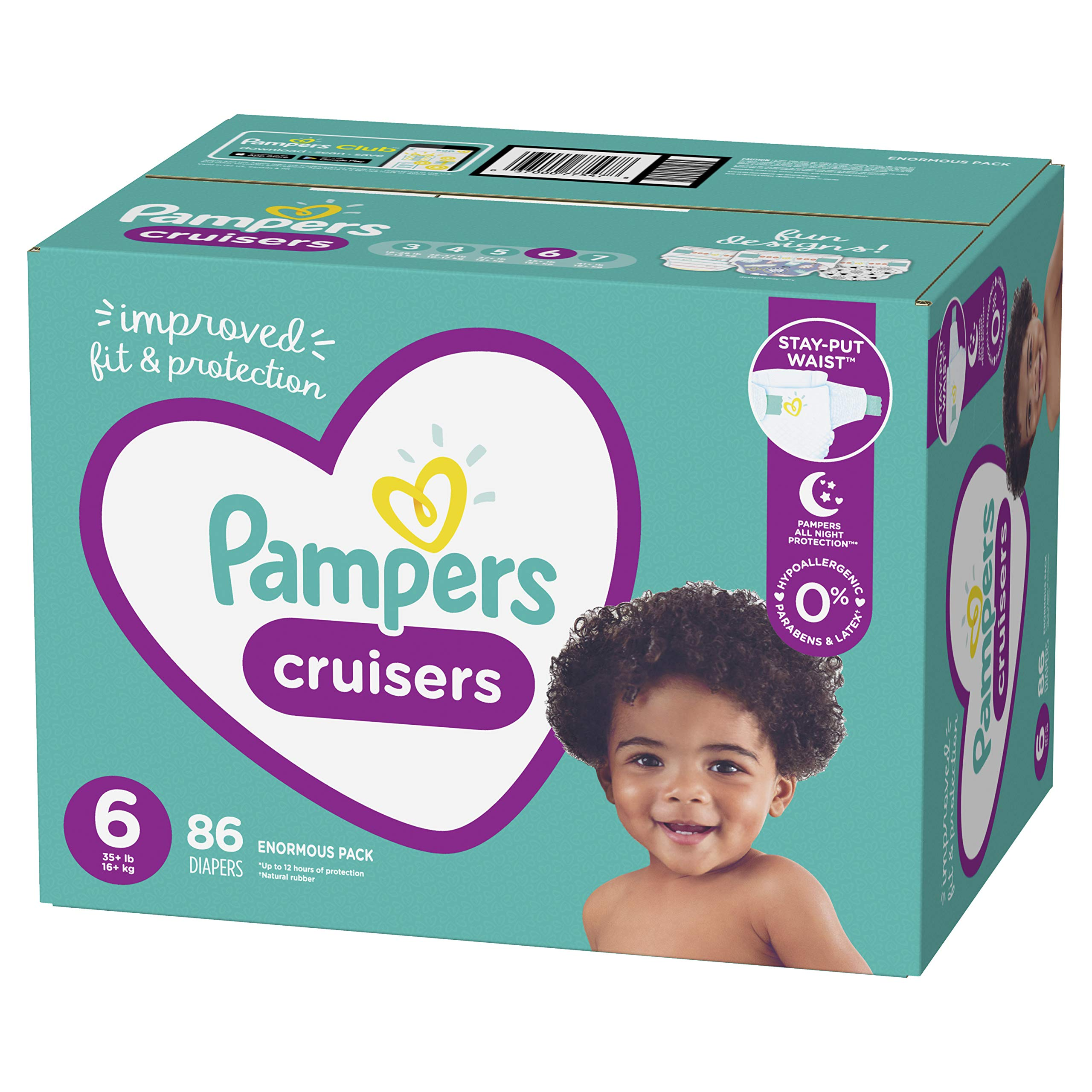 Size 5+ 68 Nappies Pampers Baby-Dry Air Channels For Breathable Dryness Overnight and Extra Night Absorption 12-17 kg