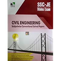 SSC-JE MAINS EXAM CIVIL ENGINEERING SUBJECTWISE CONVENTIONAL SOLVED PAPERS 13 YEARS SOLUTION