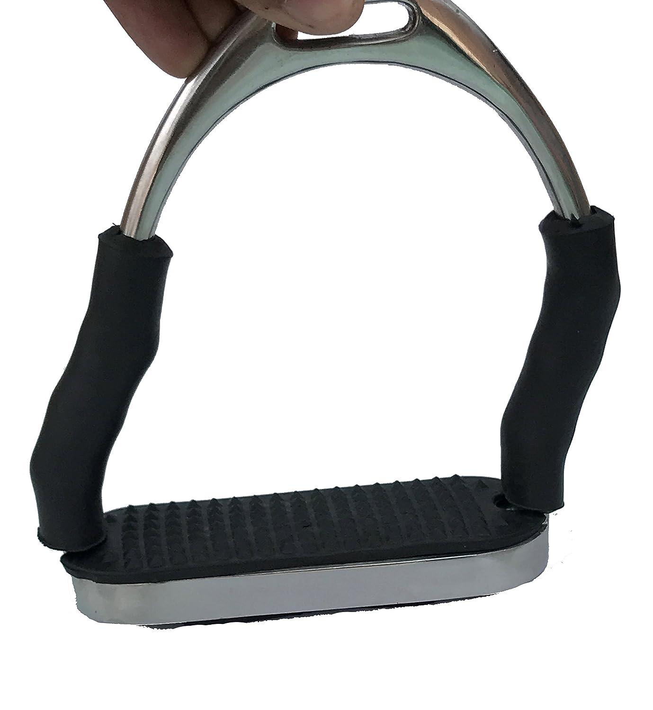 12,5cm SYSTEM 4 Vier Flexible Black Matt Schwarz Sicherheitssteigb/ügel Mit Gelenk Super