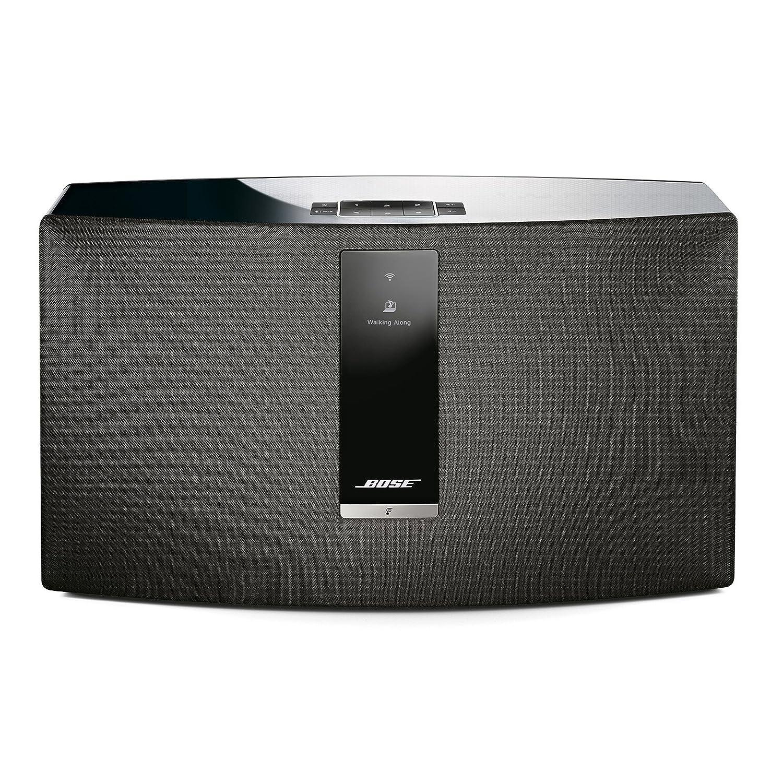 White Bose SoundTouch 30 wireless speaker works with Alexa