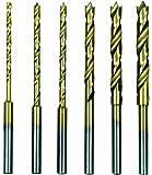 Proxxon 28876 HSS-Spiralbohrersatz mit Zentrierspitze 1,5 - 4,0 mm, 6 teilig